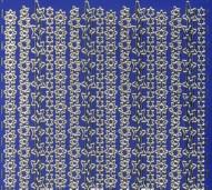 Zier-Sticker-Bogen-Ränder-Sterne-blau/gold-W140blg