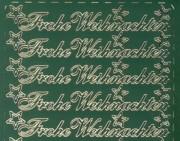 Zier-Sticker-Bogen-Frohe Weihnachten-grün/gold-W-313grg