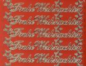Zier-Sticker-Bogen-Frohe Weihnachten-rot/gold-W-313rg