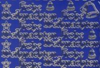 Zier-Sticker-Bogen-Frohe Weihnachten-blau/gold-W-323blg