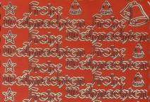 Zier-Sticker-Bogen-Frohe Weihnachten-rot/gold-W-323rg