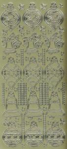 Zier-Sticker-Bogen-Kugeln-Baumschmuck-gold-W698g