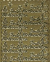 Zier-Sticker-Bogen-Frohe Weihnachten-gold-W-312g