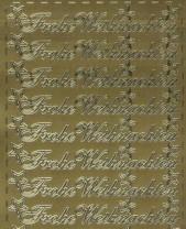 Zier-Sticker-Bogen-Frohe Weihnachten-gold-W-313g