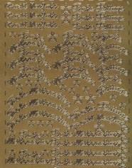 Zier-Sticker-Bogen-Frohe Weihnachten-Frohe Festtage-gold-W314g