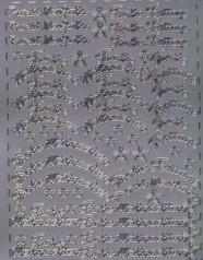Zier-Sticker-Bogen-Frohe Weihnachten-Frohe Festtage-silber-W314s