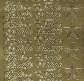 Zier-Sticker-Bogen-Frohe Festtage-gold-W319g