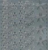 Zier-Sticker-Bogen-Frohe Festtage-silber-W319s