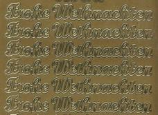 Zier-Sticker-Bogen-Frohe Weihnachten-gold-W 3705g