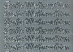 Zier-Sticker-Bogen-Frohe Weihnachten-silber-W 3705s