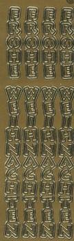 Zier-Sticker-Bogen-Frohe Weihnachten-längs-gold-W 3724g