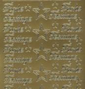 Zier-Sticker-Bogen-Frohe Festtage-gold-W452g