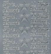 Zier-Sticker-Bogen-Frohe Festtage-silber-W452s