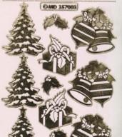 Zier-Sticker-Bogen-Baum-Kugel-Geschenke-transparent/gold-W-MD7003trg