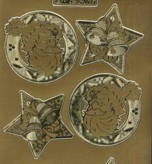 Zier-Sticker-Bogen-Weihnachtsmotive-Nikolaus-gold-W-MD7041g